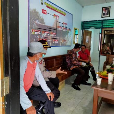 Koordinasi Bupati Rembang Penyemprotan Disinfektan